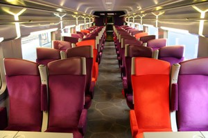 Train TGV interior