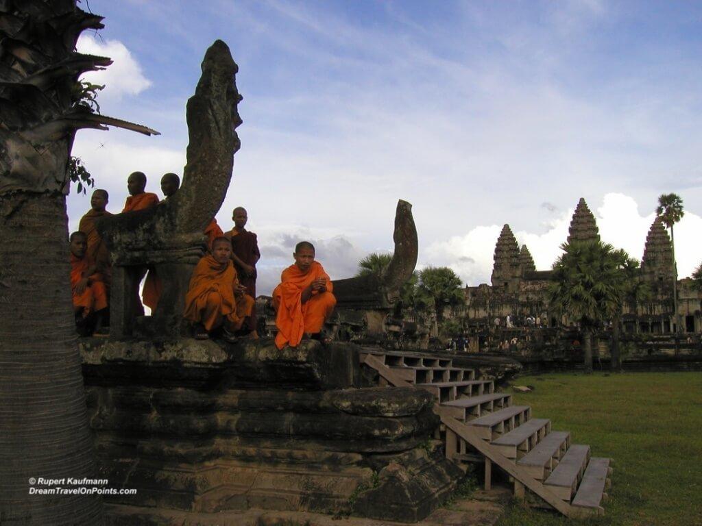 Monks resting at Angkor Wat