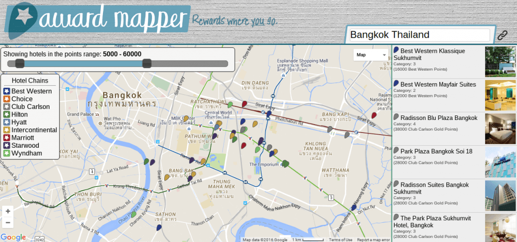 AwardMapper Screenshot