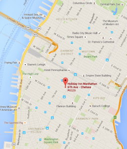 NYC HolidayInnChelsea Map