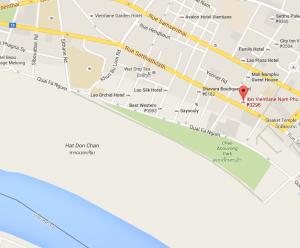 LAO ibis Vientiane Map