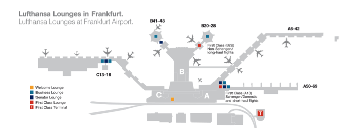 LH Lounges Frankfurt Map