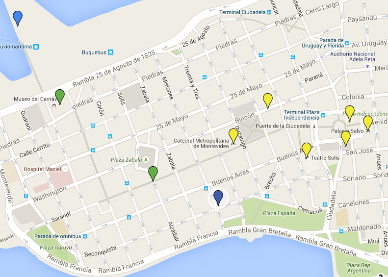 Walking Tour Of Montevideo Uruguay A Great Way To Explore The - Montevideo map