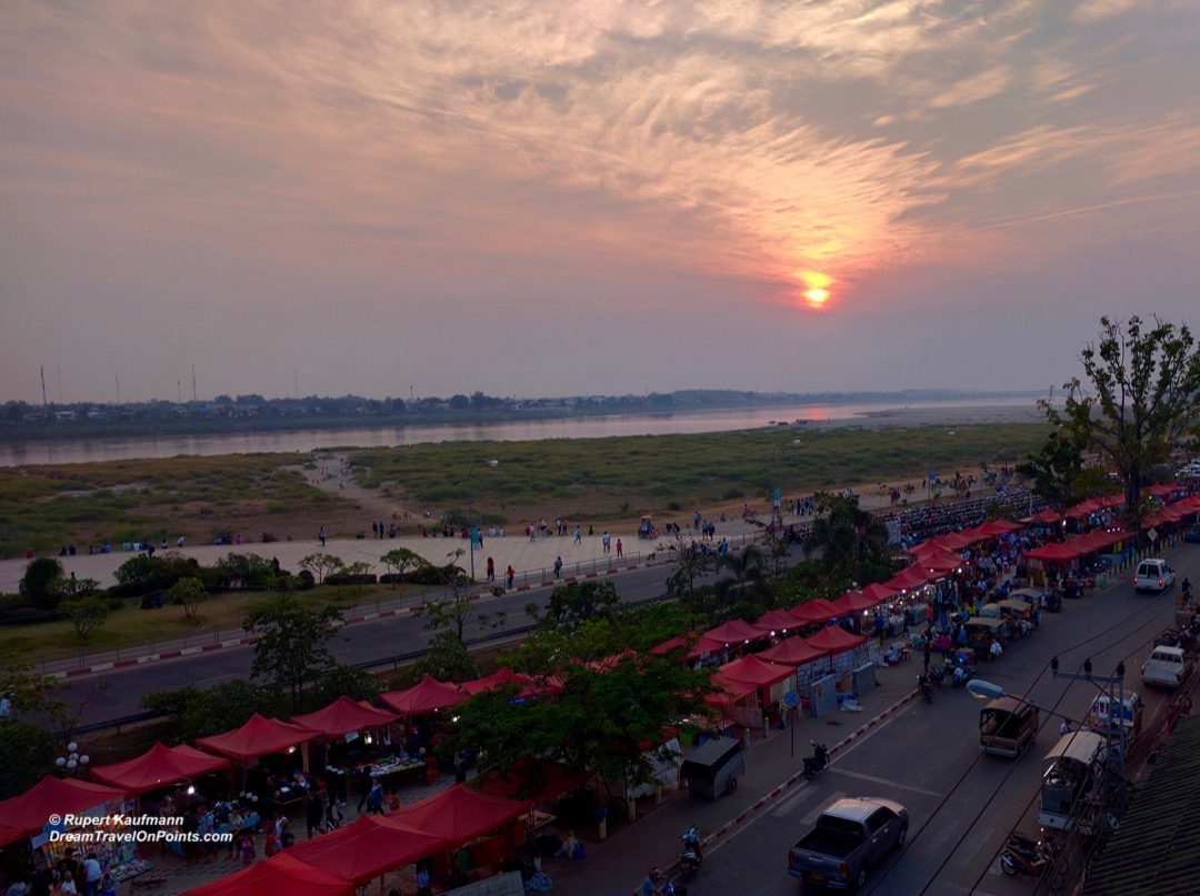 11LAO Vientiane Waterfront Sunset