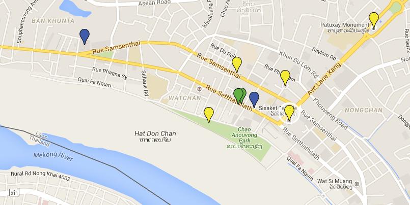 LAO Map Vientiane