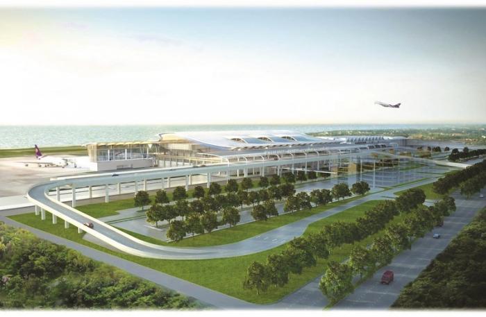 artist rendering of the new international terminal