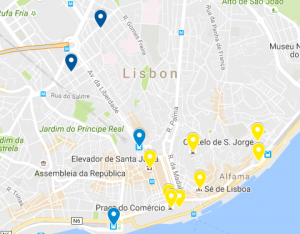 Lisbon Map - click for more details