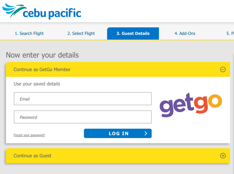 CebuPacific SignIn2