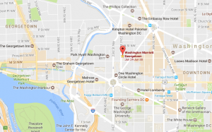 WDC Marriott Georgetown map