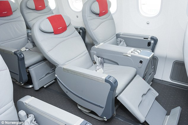 Norwegian Premium Economy - courtesy of Norwegian website