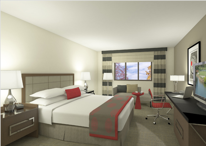 A mid-scale hotel brand of greatly varying quality: Ramada